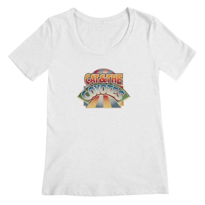 Traveling Coyotes Women's Regular Scoop Neck by Magic Inkwell
