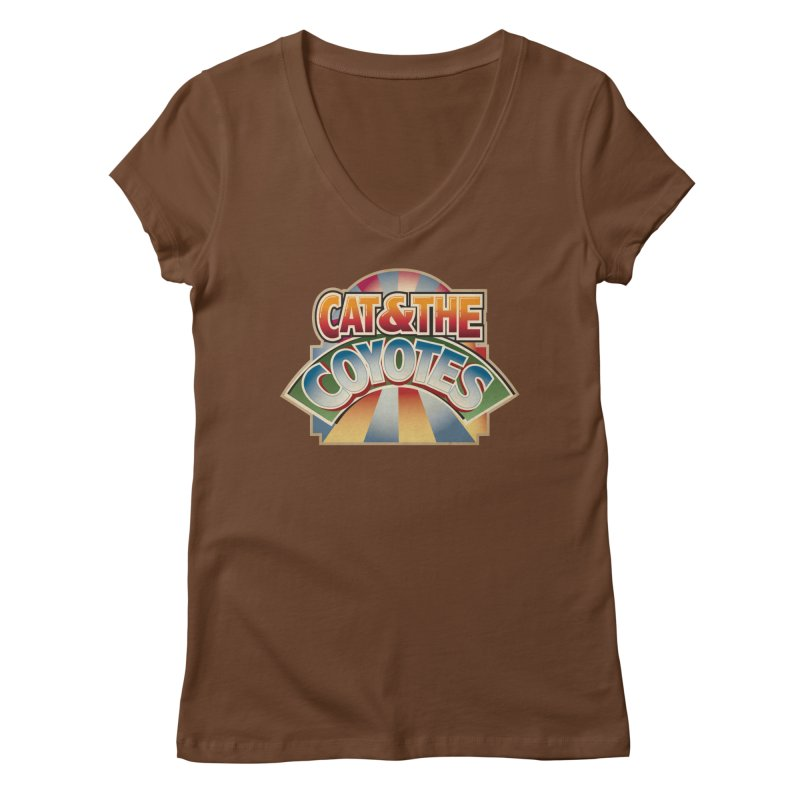Traveling Coyotes Women's Regular V-Neck by Magic Inkwell