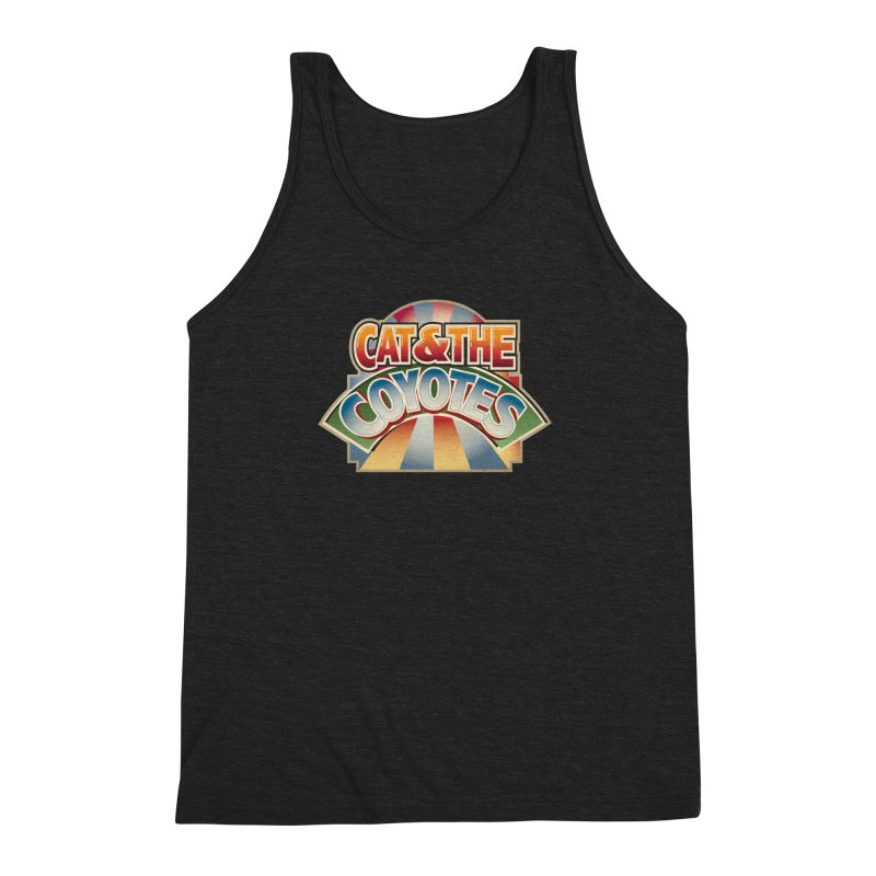 Traveling Coyotes Men's Triblend Tank by Magic Inkwell