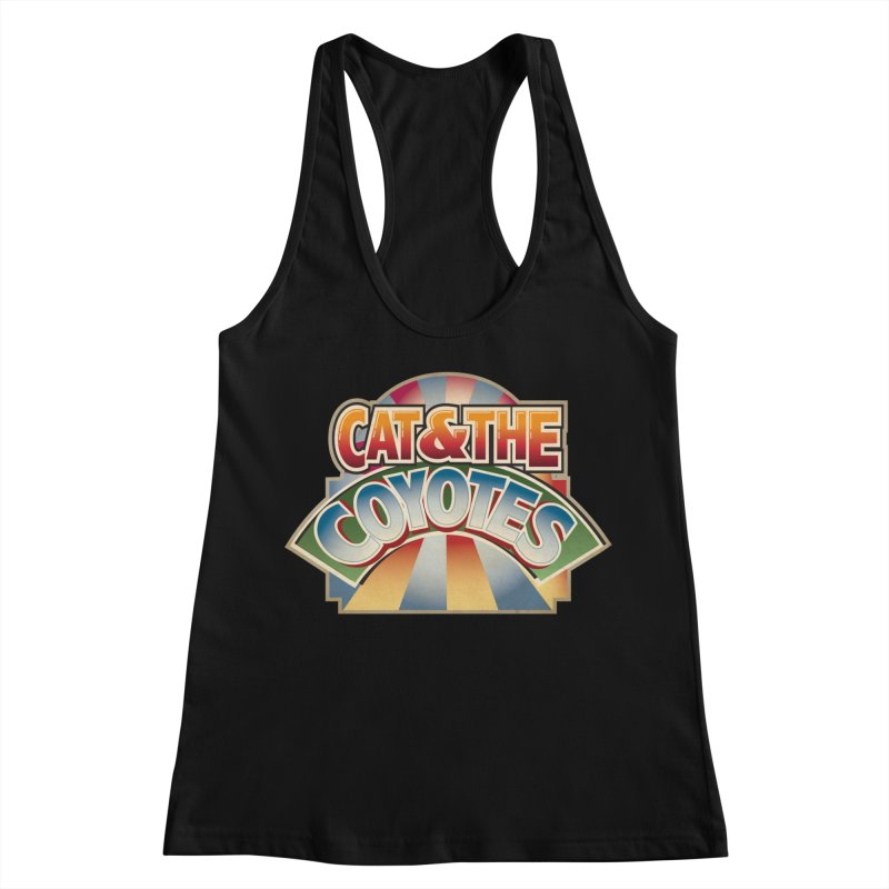 Traveling Coyotes Women's Racerback Tank by Magic Inkwell