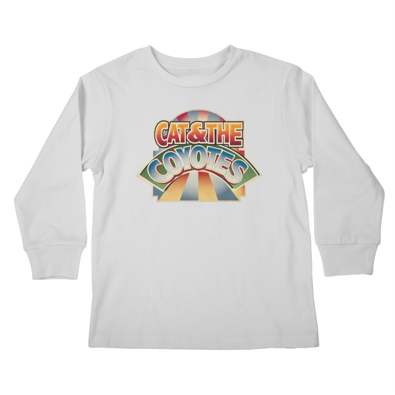 Traveling Coyotes Kids Longsleeve T-Shirt by Magic Inkwell