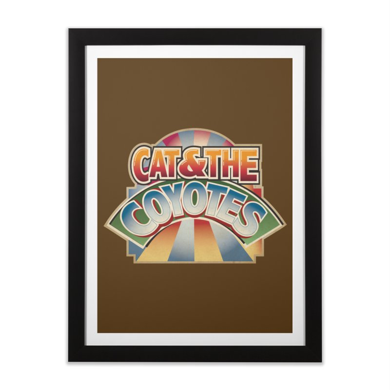 Traveling Coyotes Home Framed Fine Art Print by Magic Inkwell