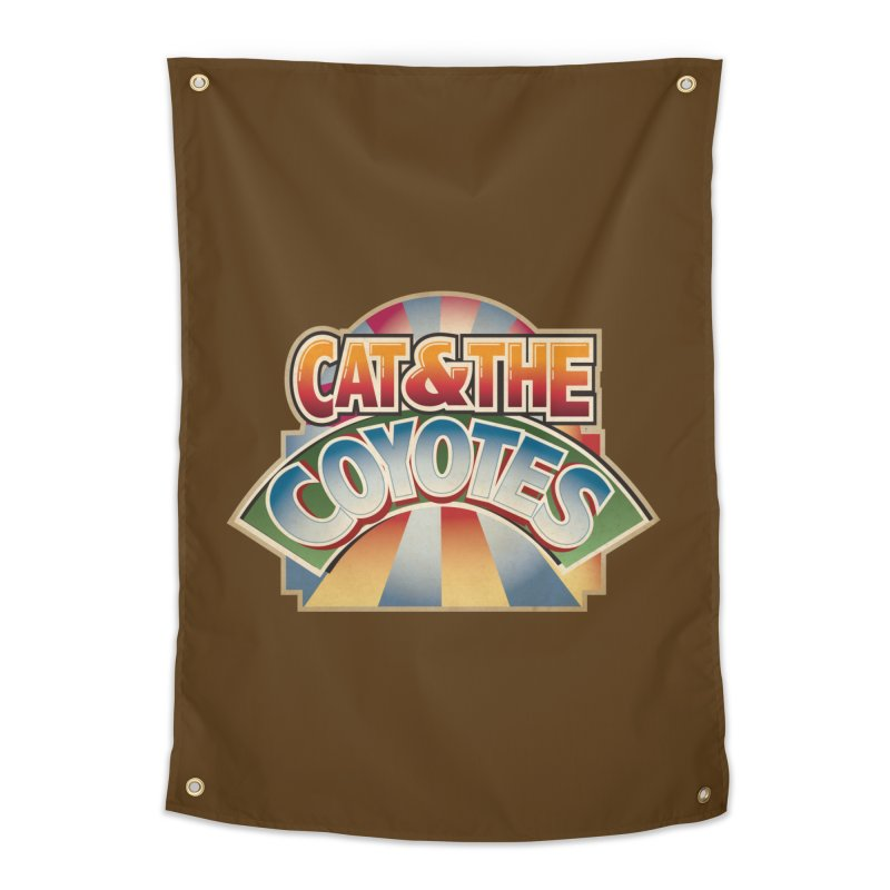 Traveling Coyotes Home Tapestry by Magic Inkwell