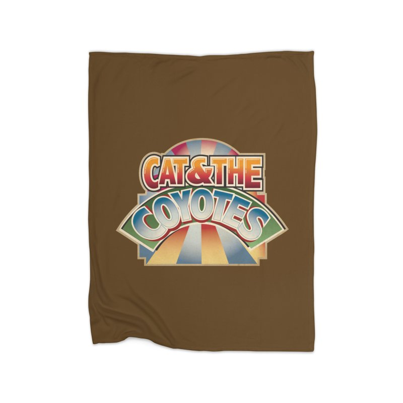 Traveling Coyotes Home Fleece Blanket Blanket by Magic Inkwell