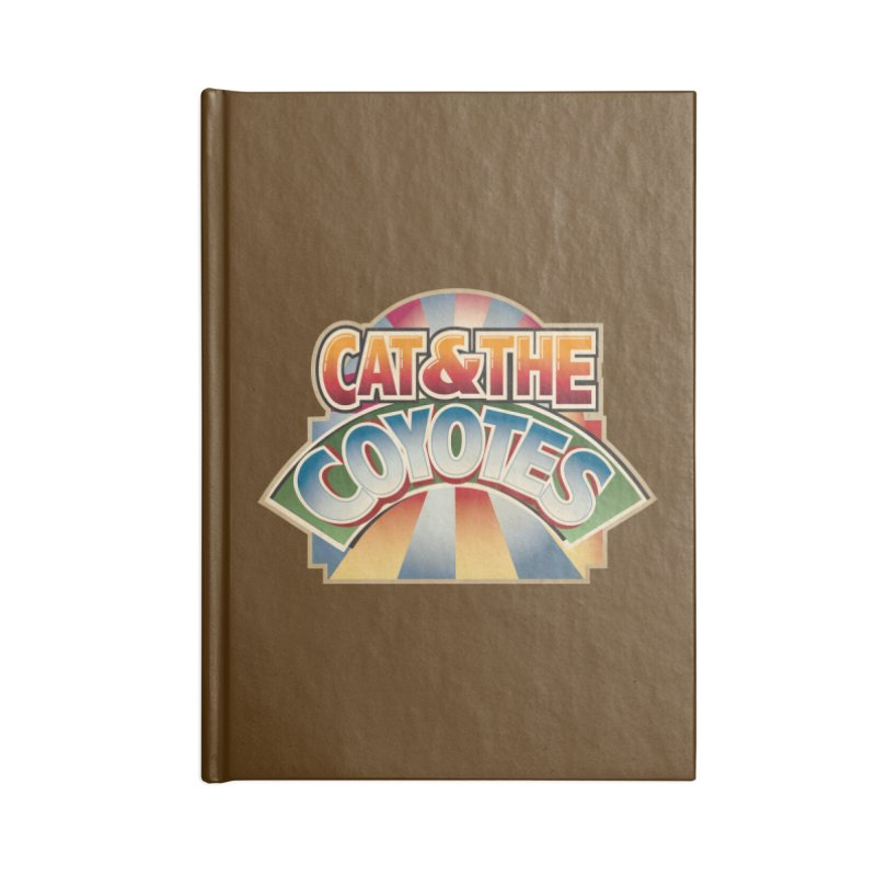 Traveling Coyotes Accessories Lined Journal Notebook by Magic Inkwell