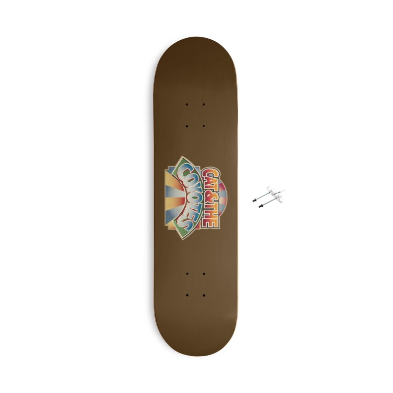 Traveling Coyotes Accessories With Hanging Hardware Skateboard by Magic Inkwell