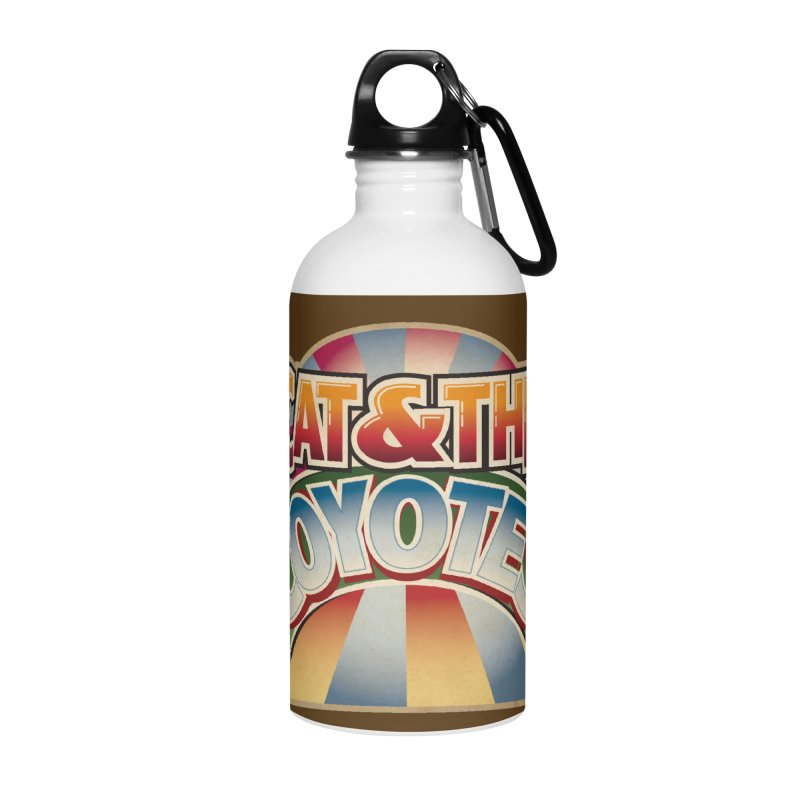 Traveling Coyotes Accessories Water Bottle by Magic Inkwell