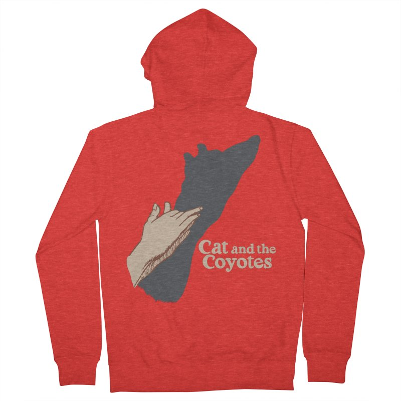 Cat and the Coyotes Ombromanie Tee Women's Zip-Up Hoody by Magic Inkwell