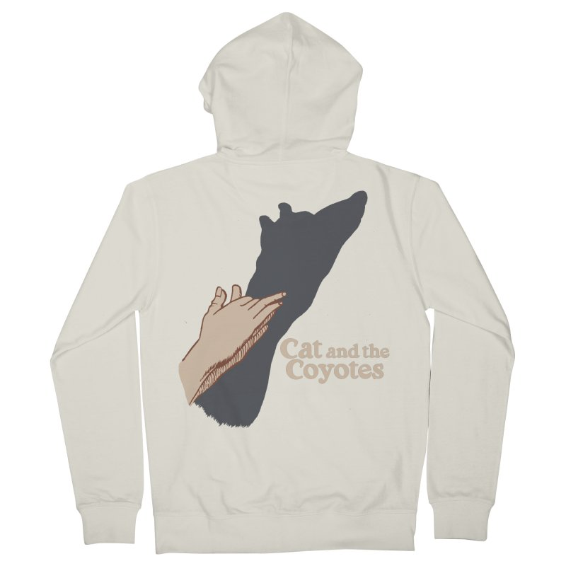 Cat and the Coyotes Ombromanie Tee Men's Zip-Up Hoody by Magic Inkwell