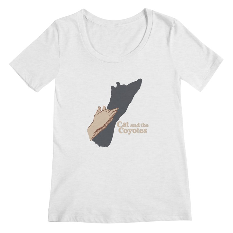 Cat and the Coyotes Ombromanie Tee Women's Regular Scoop Neck by Magic Inkwell