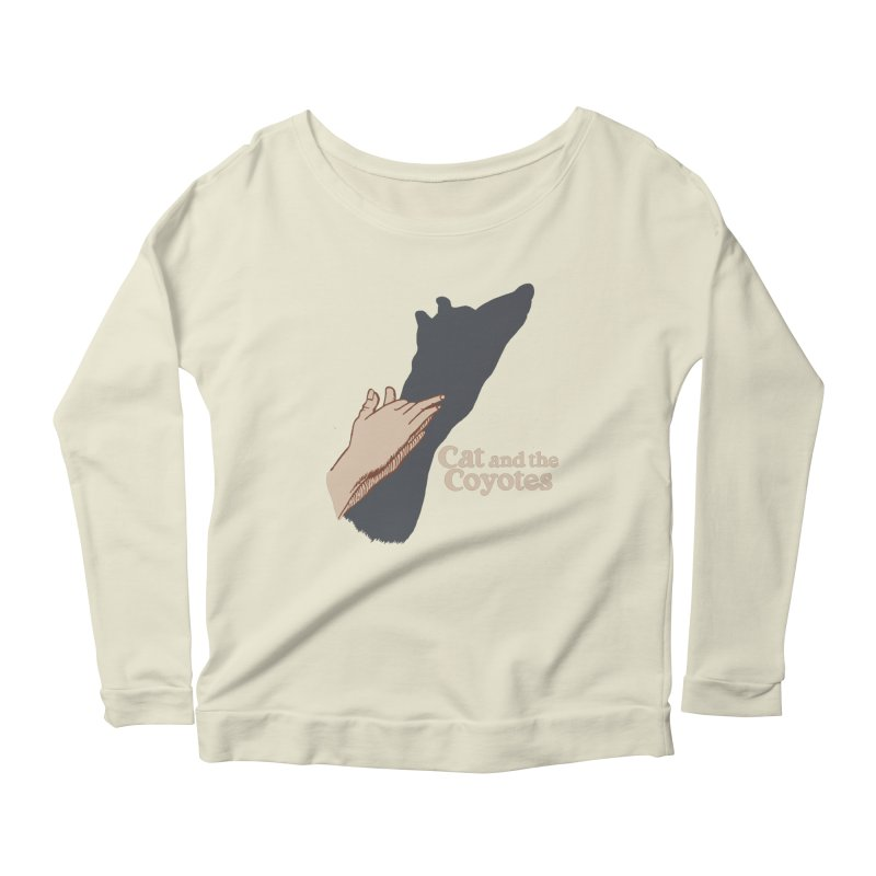 Cat and the Coyotes Ombromanie Tee Women's Scoop Neck Longsleeve T-Shirt by Magic Inkwell