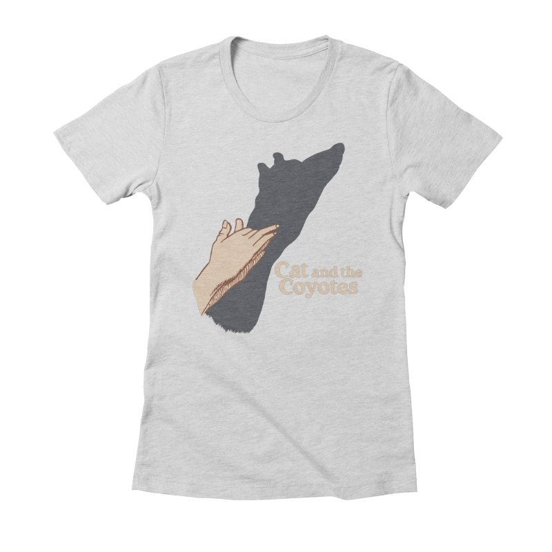 Cat and the Coyotes Ombromanie Tee Women's Fitted T-Shirt by Magic Inkwell