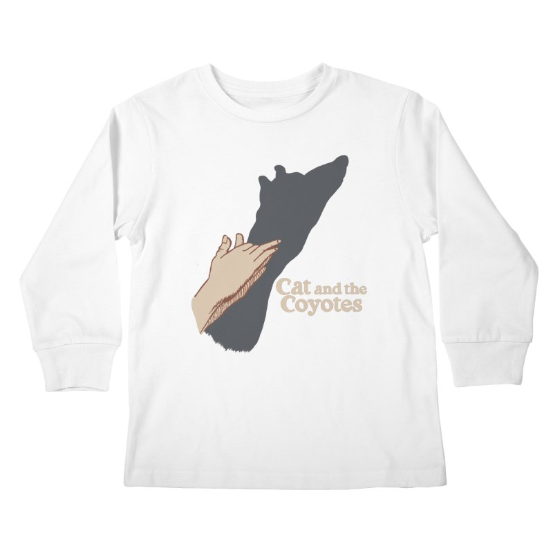 Cat and the Coyotes Ombromanie Tee Kids Longsleeve T-Shirt by Magic Inkwell