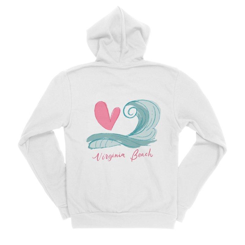 <3 Virginia Beach Women's Sponge Fleece Zip-Up Hoody by Ceindydoodles's Artist Shop