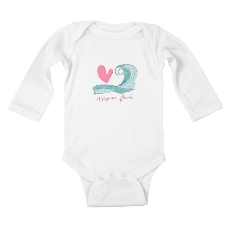 <3 Virginia Beach Kids Baby Longsleeve Bodysuit by Ceindydoodles's Artist Shop