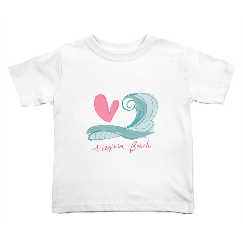 <3 Virginia Beach Kids Toddler T-Shirt by Ceindydoodles's Artist Shop