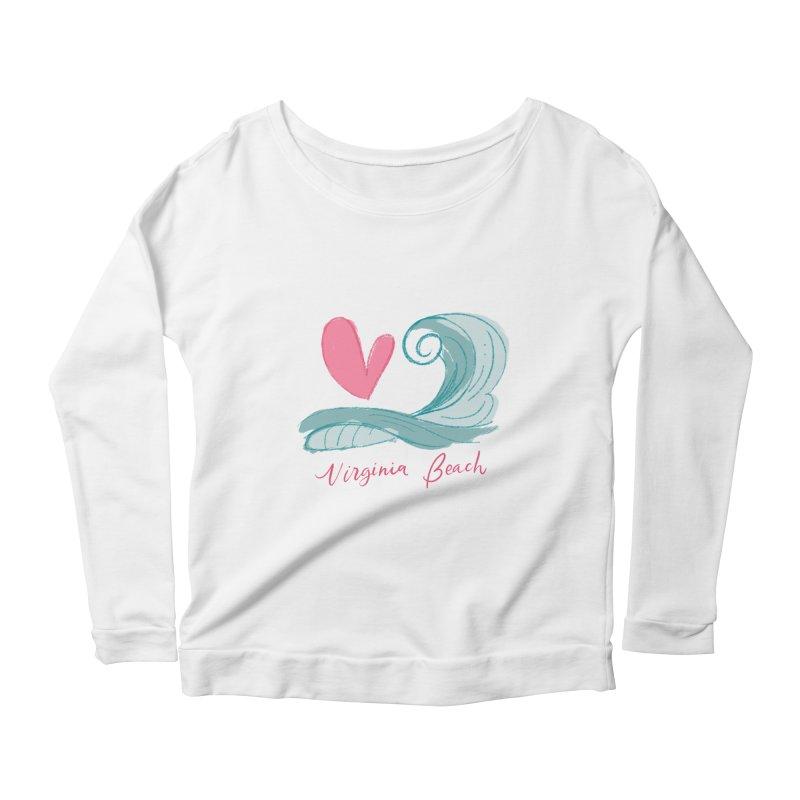 <3 Virginia Beach Women's Scoop Neck Longsleeve T-Shirt by Ceindydoodles's Artist Shop