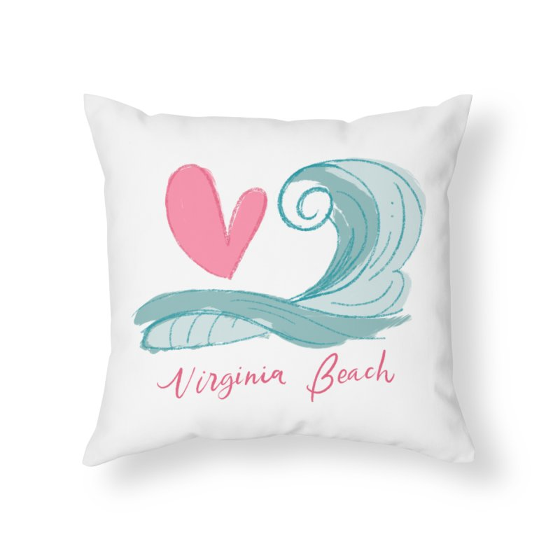<3 Virginia Beach Home Throw Pillow by Ceindydoodles's Artist Shop