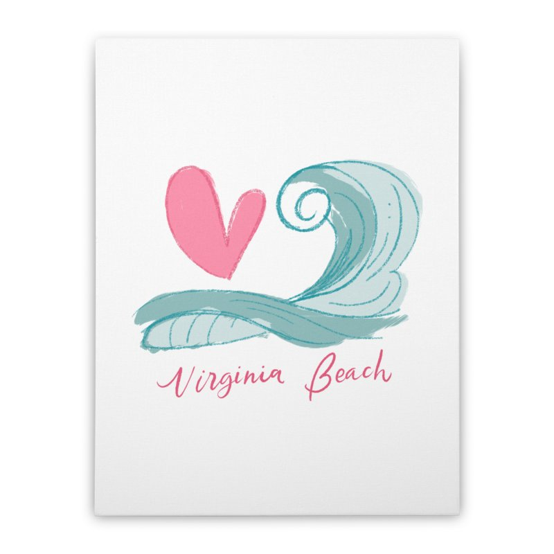 <3 Virginia Beach Home Stretched Canvas by Ceindydoodles's Artist Shop
