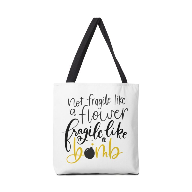 Fragile like a Bomb Accessories Tote Bag Bag by Ceindydoodles's Artist Shop