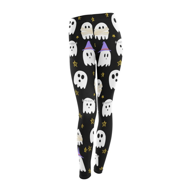 Cute Ghosts Want to Dress Up, too Women's Leggings Bottoms by Ceindydoodles's Artist Shop