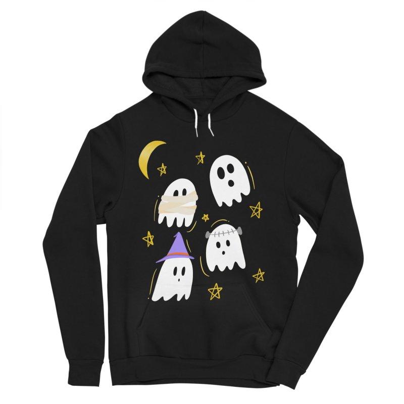 Cute Ghosts Want to Dress Up, too Men's Sponge Fleece Pullover Hoody by Ceindydoodles's Artist Shop
