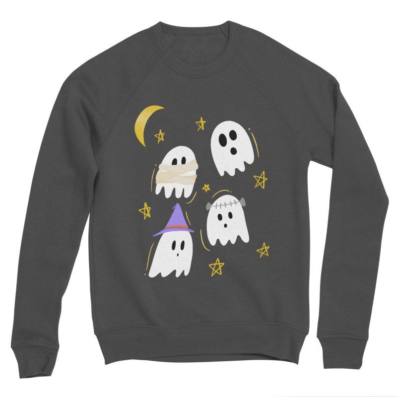 Cute Ghosts Want to Dress Up, too Women's Sponge Fleece Sweatshirt by Ceindydoodles's Artist Shop