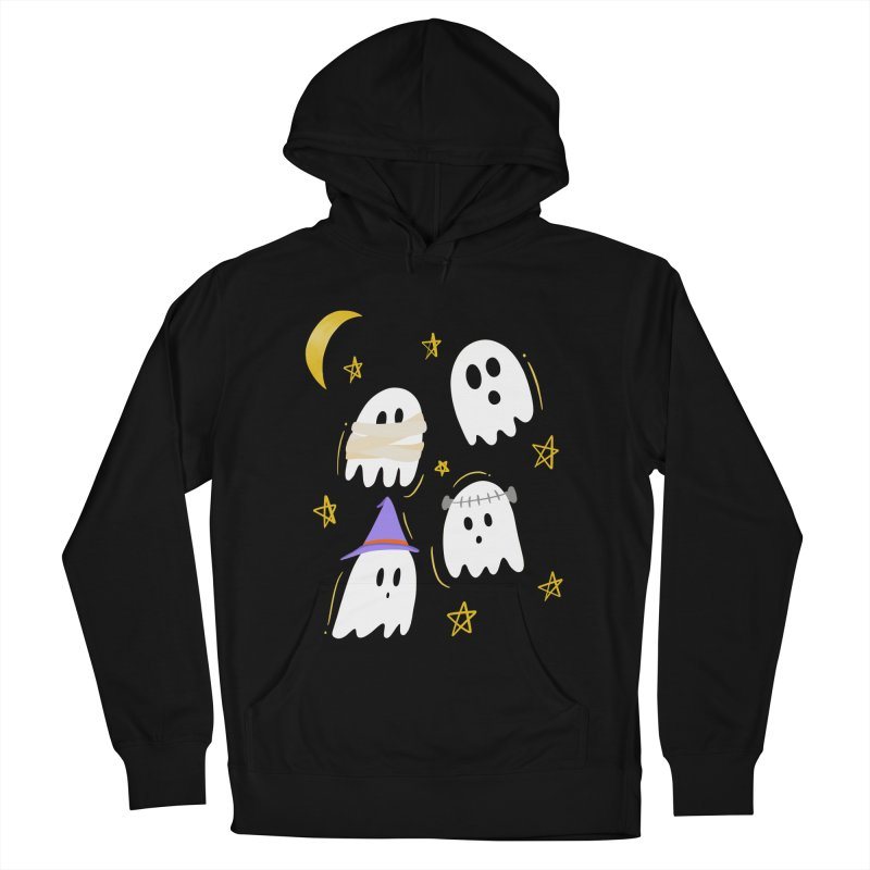 Cute Ghosts Want to Dress Up, too Women's French Terry Pullover Hoody by Ceindydoodles's Artist Shop