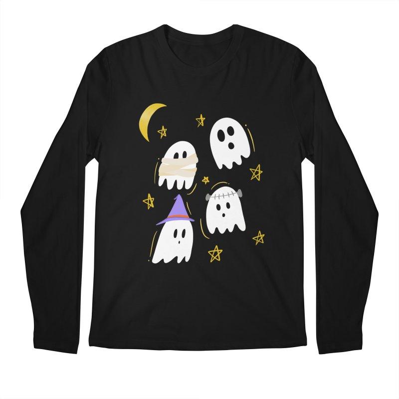 Cute Ghosts Want to Dress Up, too Men's Regular Longsleeve T-Shirt by Ceindydoodles's Artist Shop