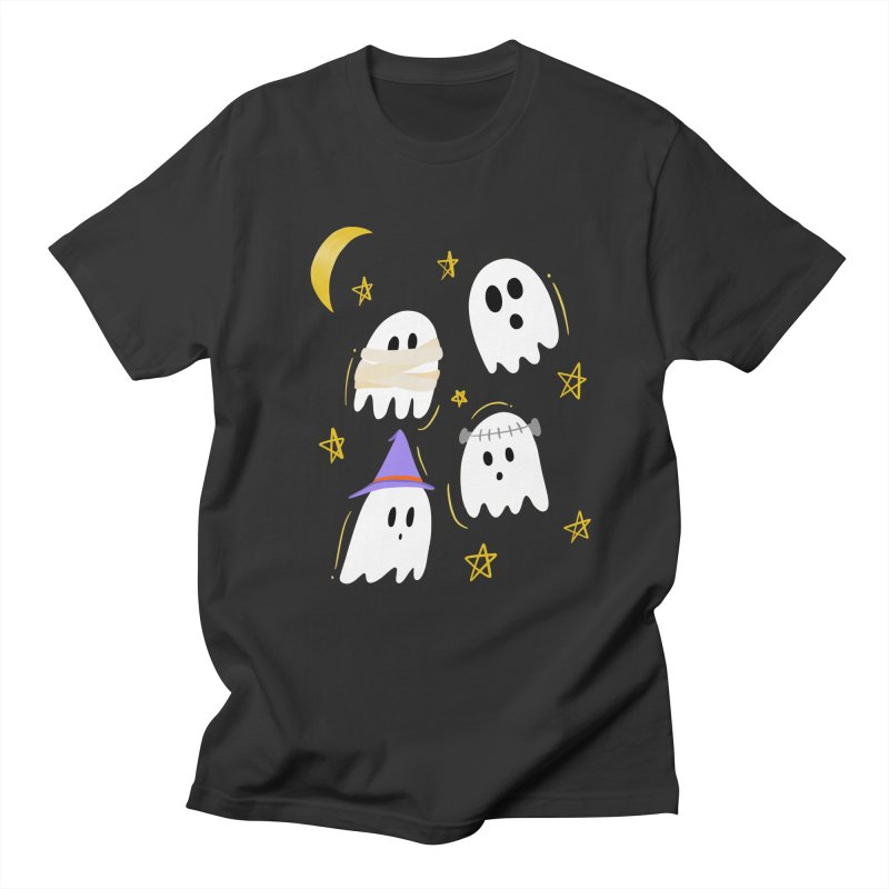 Cute Ghosts Want to Dress Up, too Men's Regular T-Shirt by Ceindydoodles's Artist Shop