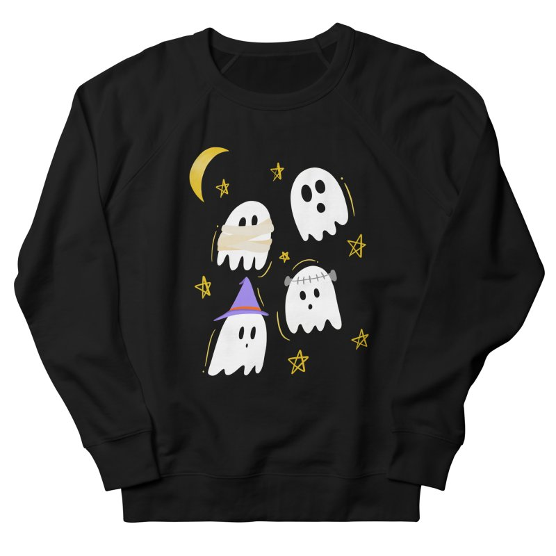 Cute Ghosts Want to Dress Up, too Men's French Terry Sweatshirt by Ceindydoodles's Artist Shop