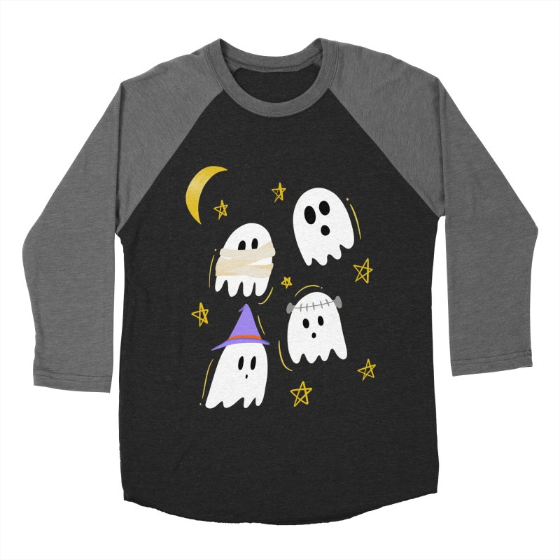 Cute Ghosts Want to Dress Up, too Women's Baseball Triblend Longsleeve T-Shirt by Ceindydoodles's Artist Shop