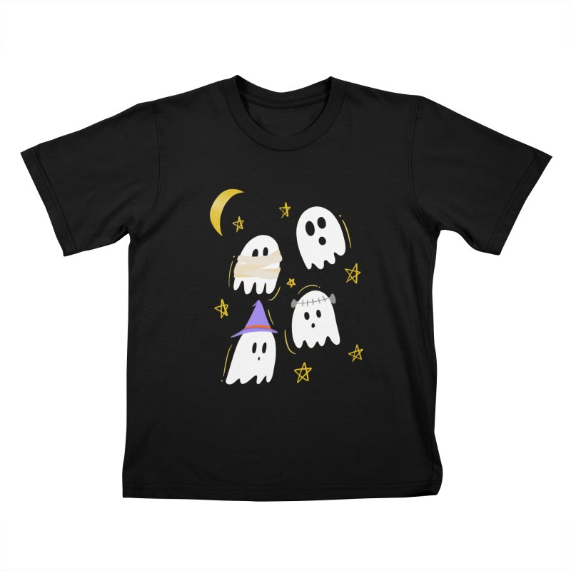 Cute Ghosts Want to Dress Up, too Kids T-Shirt by Ceindydoodles's Artist Shop