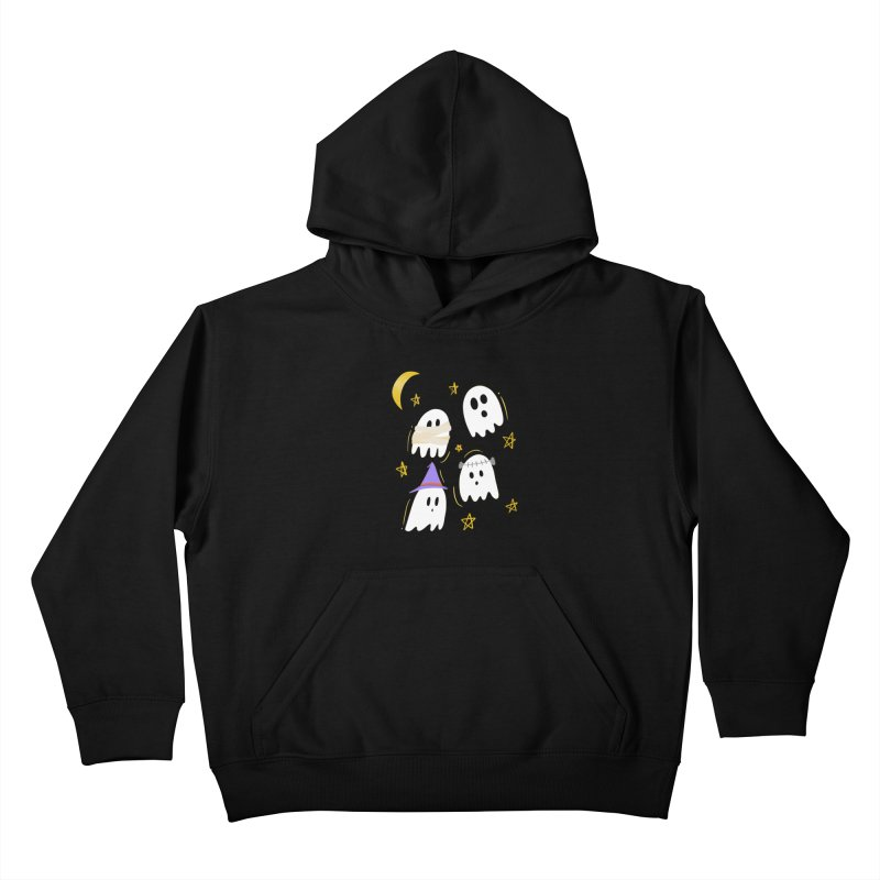 Cute Ghosts Want to Dress Up, too Kids Pullover Hoody by Ceindydoodles's Artist Shop