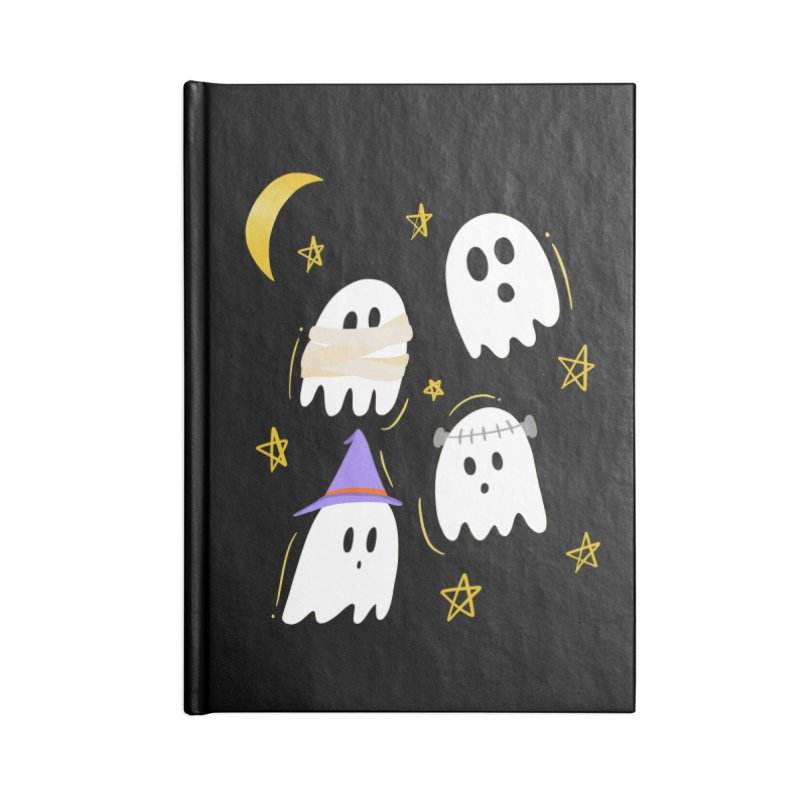 Cute Ghosts Want to Dress Up, too Accessories Blank Journal Notebook by Ceindydoodles's Artist Shop