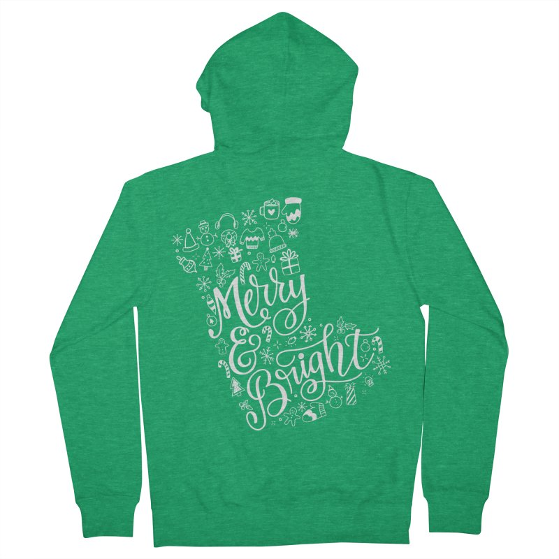 Merry and Bright Women's French Terry Zip-Up Hoody by Ceindydoodles's Artist Shop