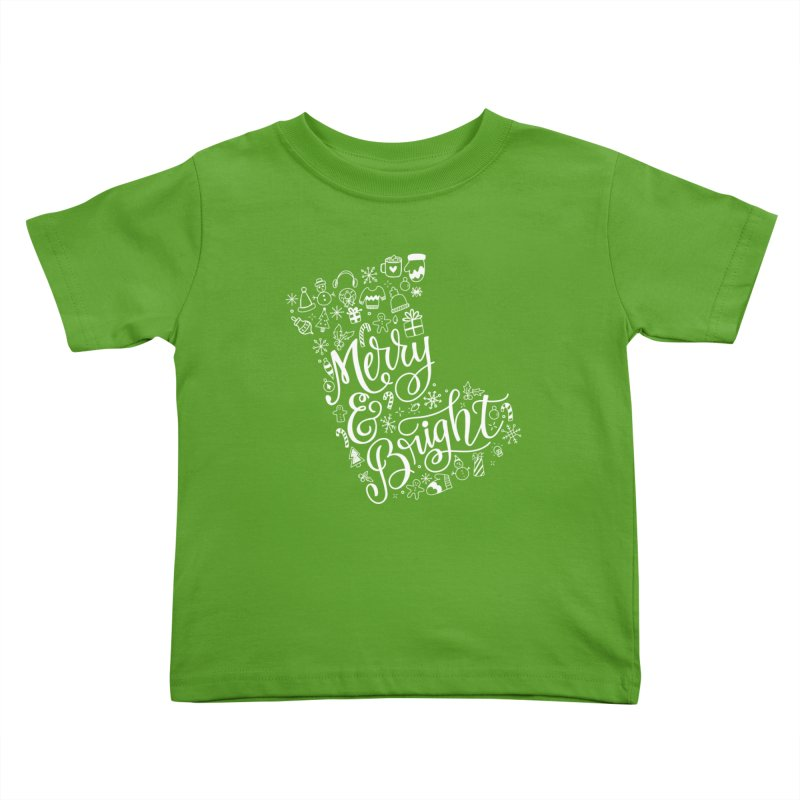 Merry and Bright Kids Toddler T-Shirt by Ceindydoodles's Artist Shop