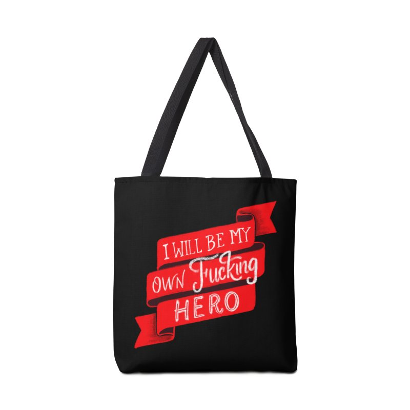 Be My Own Hero Accessories Bag by Ceindydoodles's Artist Shop