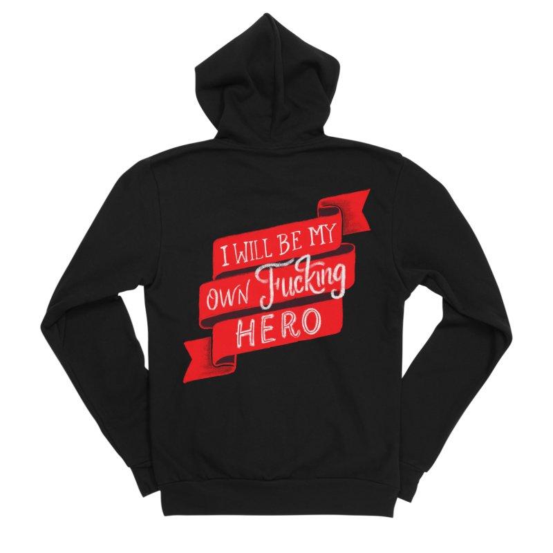 Be My Own Hero Men's Zip-Up Hoody by Ceindydoodles's Artist Shop