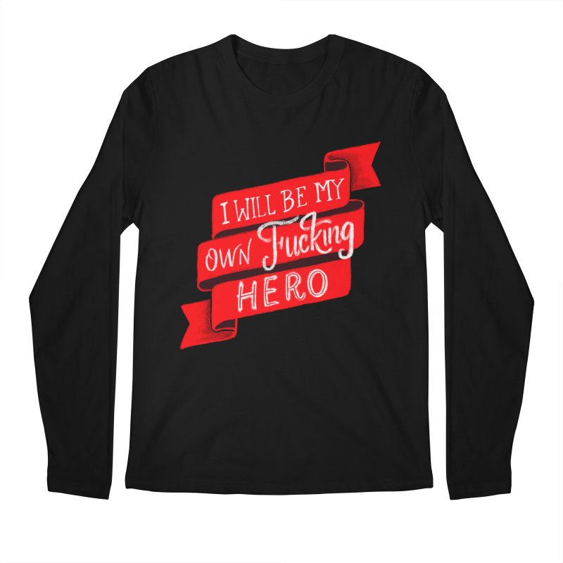 Be My Own Hero Men's Regular Longsleeve T-Shirt by Ceindydoodles's Artist Shop