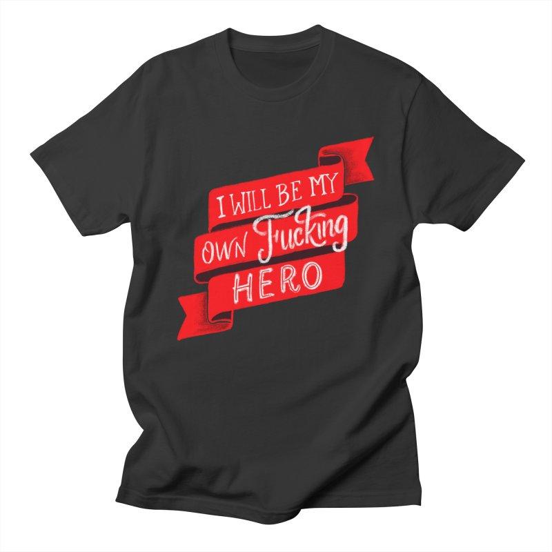 Be My Own Hero Men's Regular T-Shirt by Ceindydoodles's Artist Shop