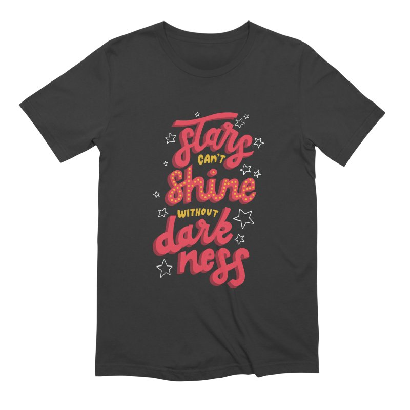 Stars Can't Shine Without Darkness Men's Extra Soft T-Shirt by Ceindydoodles's Artist Shop