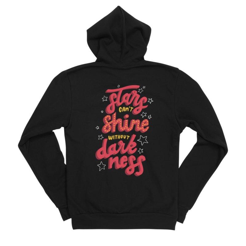 Stars Can't Shine Without Darkness Men's Sponge Fleece Zip-Up Hoody by Ceindydoodles's Artist Shop