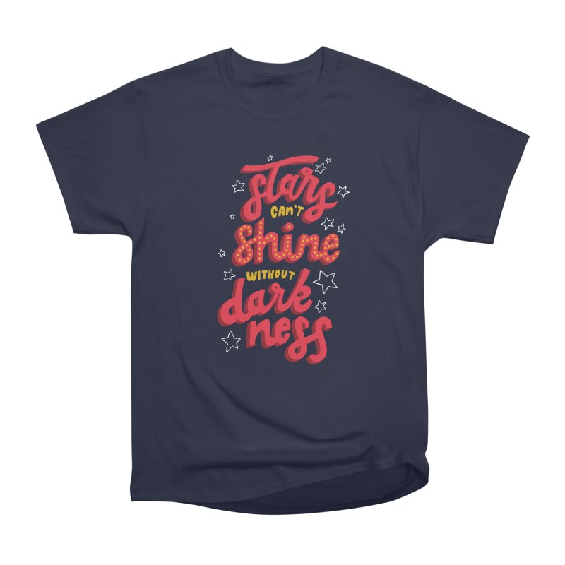 Stars Can't Shine Without Darkness Men's Heavyweight T-Shirt by Ceindydoodles's Artist Shop