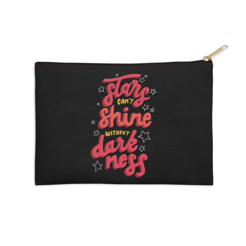 Stars Can't Shine Without Darkness Accessories Zip Pouch by Ceindydoodles's Artist Shop