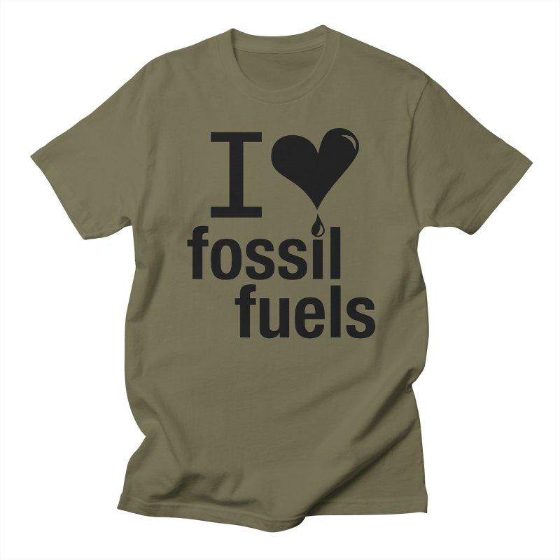 I Love Fossil Fuels Men's Regular T-Shirt by CenterforIndustrialProgress's Artist Shop