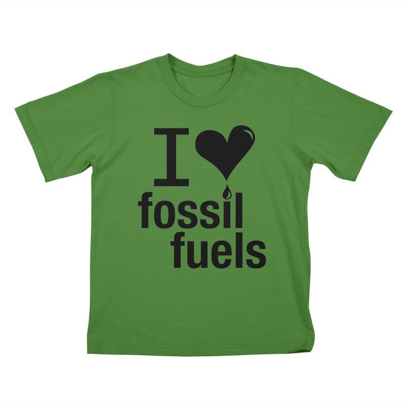 I Love Fossil Fuels Kids T-Shirt by CenterforIndustrialProgress's Artist Shop