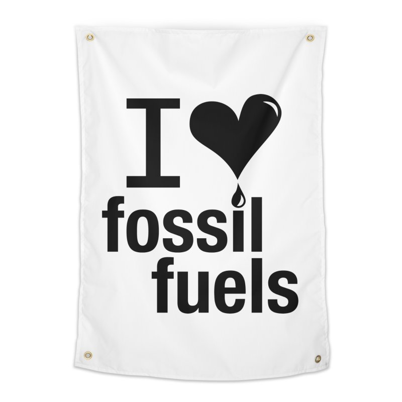 I Love Fossil Fuels Home Tapestry by Center for Industrial Progress's Artist Shop