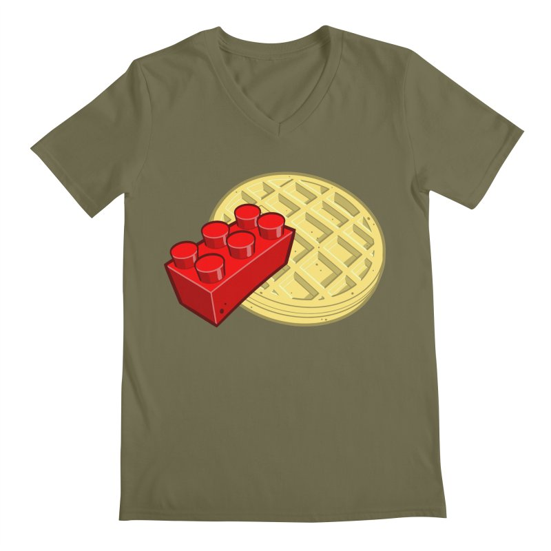 Lego My Eggo Men's V-Neck by ChadTownsend's Artist Shop