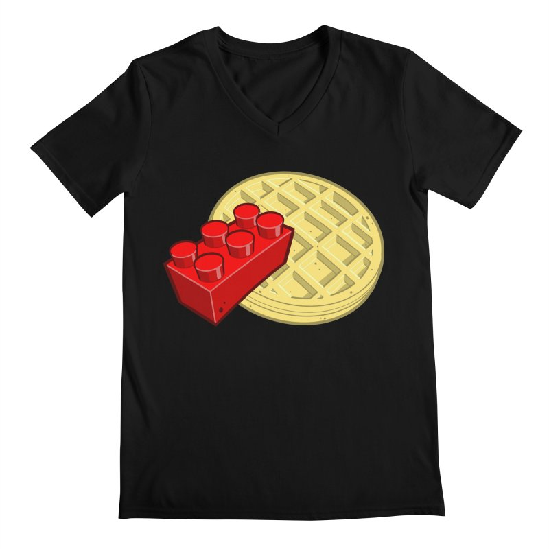 Lego My Eggo Men's Regular V-Neck by ChadTownsend's Artist Shop